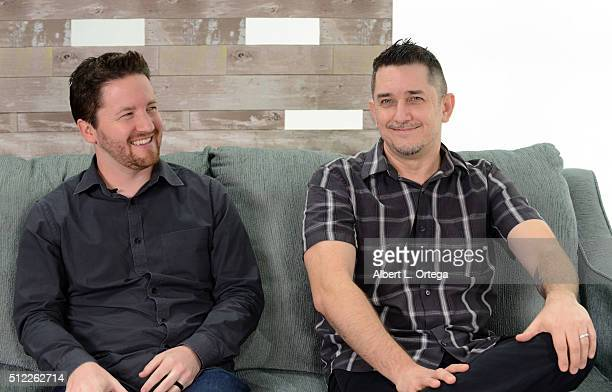 Writers Sean Gerber and Mark Hughes at the Nominations Announcement For The 42nd Annual Saturn Awards held at Geek Nation Studios on February 11 2016...