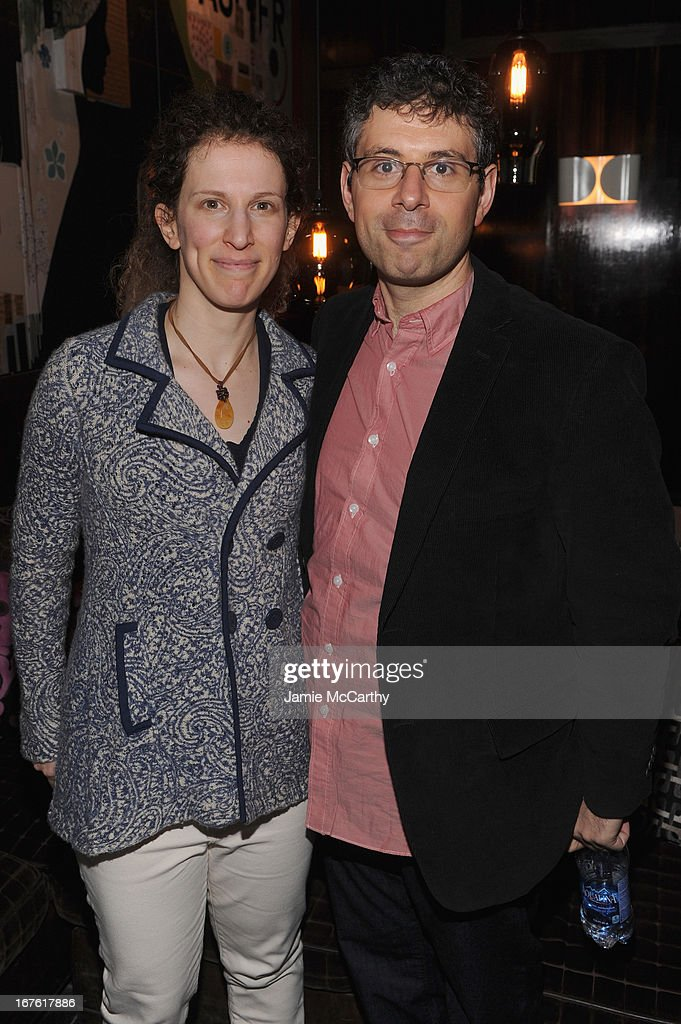 Writers Stacy Chariton and Dan Chariton attend 'The English Teacher' After Party during the 2013 Tribeca Film Festival on April 26, 2013 in New York City.