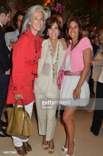 Writers Tatiana de Rosnay Christine OrbanÊand Hotel Montalembert CEO Myriam Kournaf attend the 'Premier Roman de Femme' Hotel Montalembert Litterary...
