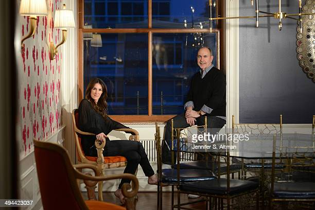 Writers Terence Winter and Rachel Winter are photographed for Los Angeles Times on February 20 2014 in New York City