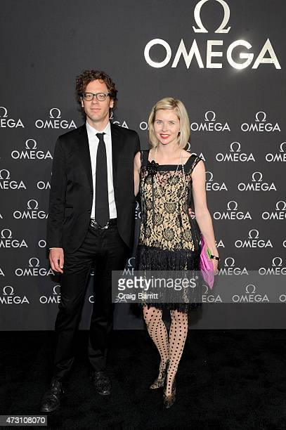 Writers Tom Folsom and Lily Koppel attend the OMEGA Speedmaster Houston Event at Western Airways Airport Hangar on May 12 2015 in Sugar Land Texas