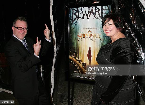 Writers Tony DiTerlizzi and Holly Black attend the premiere of Paramount Pictures 'The Spiderwick Chronicles' at the Paramount Theatre on January 31...