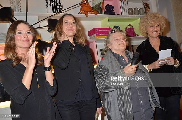 Writers Virginie de Clausade Virginie Despentes Josee Dayan and Elisabeth Reynaud attend the 'Prix Bel Ami 2012' Women Literary Awards at the Hotel...