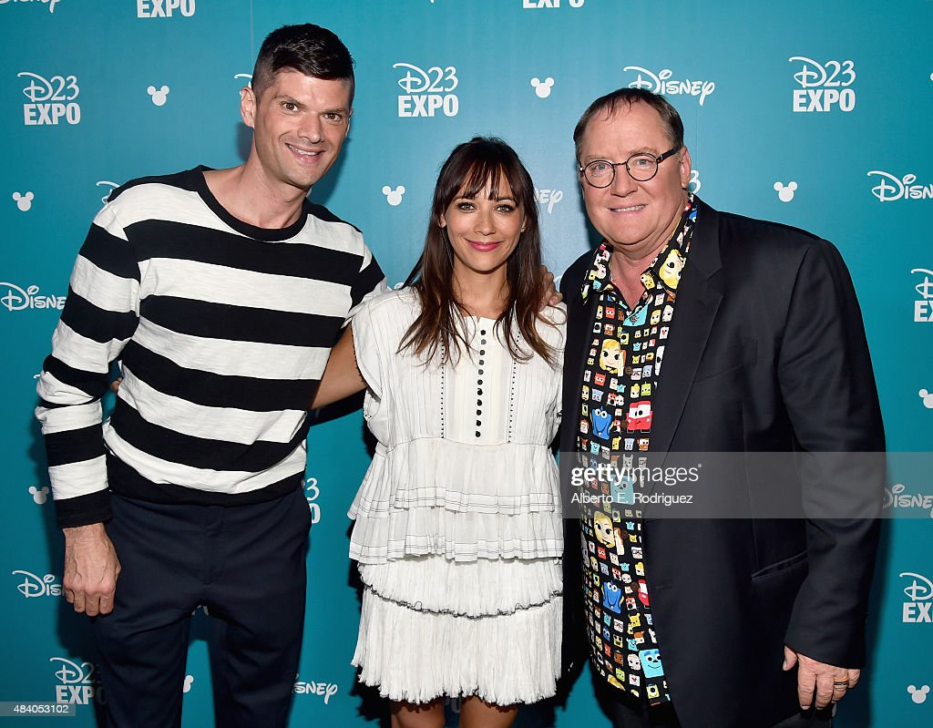 Writers Will McCormack and Rashida Jones and director John Lasseter of TOY STORY 4 took part today in 'Pixar and Walt Disney Animation Studios: The Upcoming Films' presentation at Disney's D23 EXPO 2015 in Anaheim, Calif.
