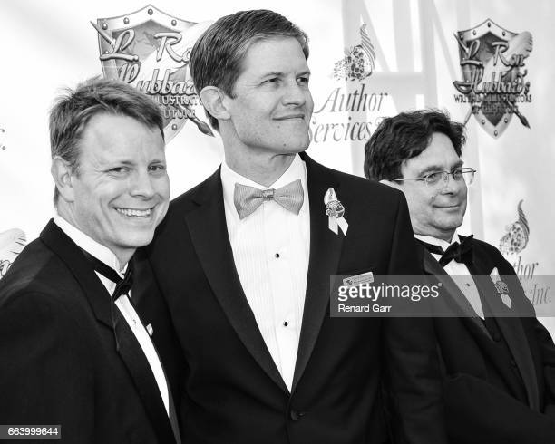 Writers Winner Andrew Peery, David Vonallmen and Andrew Roberts attends the 33rd Annual L. Ron Hubbard Achievement Awards at The Wilshire Ebell...