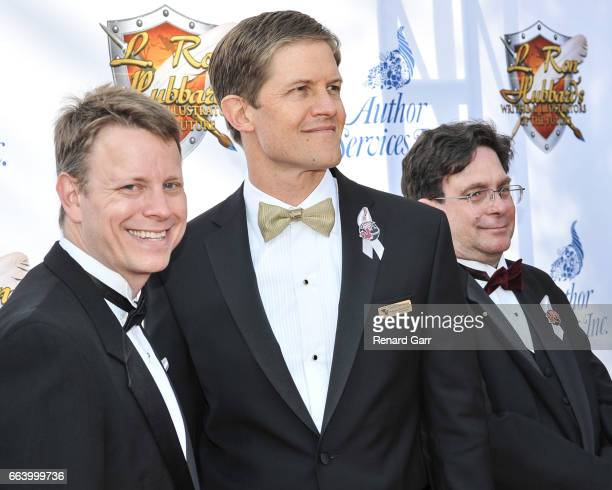 Writers Winners Andrew Peery, David Vonallmen and Andrew Roberts attend the 33rd Annual L. Ron Hubbard Achievement Awards - Arrivals at The Wilshire...