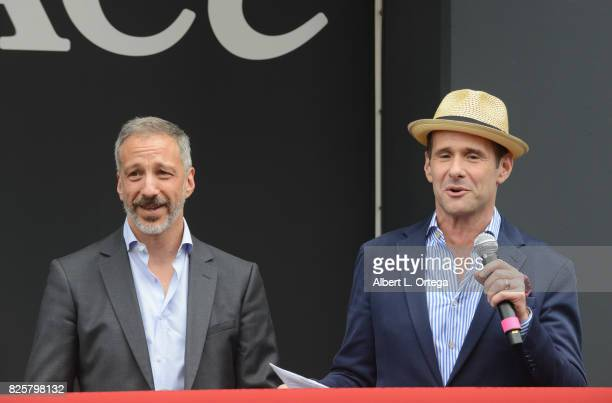Writers/creators David Kohan and Max Mutchnick at the 'Will Grace' Ribbon Cutting Ceremony held on August 2 2017 in Los Angeles California