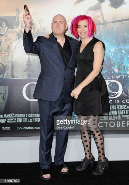 Writers/Directors Andy Wachowski and Lana Wachowski arrive at the Los Angeles Premiere Cloud Atlas at Grauman's Chinese Theatre on October 24 2012 in...