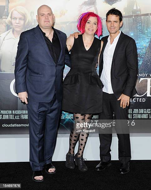 Writers/Directors Andy Wachowski Lana Wachowski and Tom Tykwer arrive at the Los Angeles Premiere Cloud Atlas at Grauman's Chinese Theatre on October...