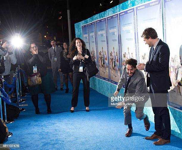 Writers/directors Jay and Mark Duplass attend the premiere of HBO's Togetherness at Avalon on January 6 2015 in Hollywood California
