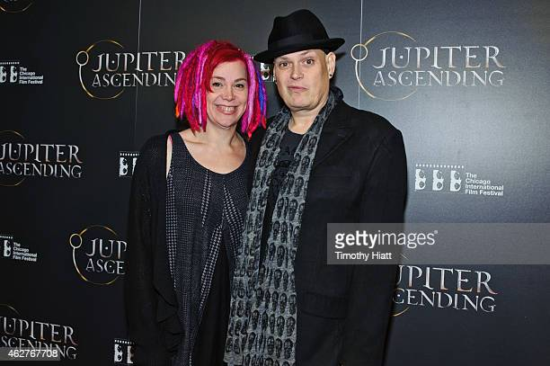 Writers/Directors Lana and Andy Wachowski attend a screening of Jupiter Ascending at AMC River East Theater on February 4 2015 in Chicago Illinois
