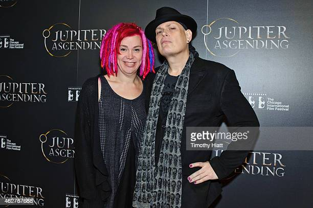 Writers/Directors Lana and Andy Wachowskiattend a screening of Jupiter Ascending at AMC River East Theater on February 4 2015 in Chicago Illinois