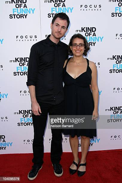 Writers/Directors Ryan Fleck and Anna Boden attend the 'It's Kind of a Funny Story' premiere at Landmark's Sunshine Cinema on September 14 2010 in...