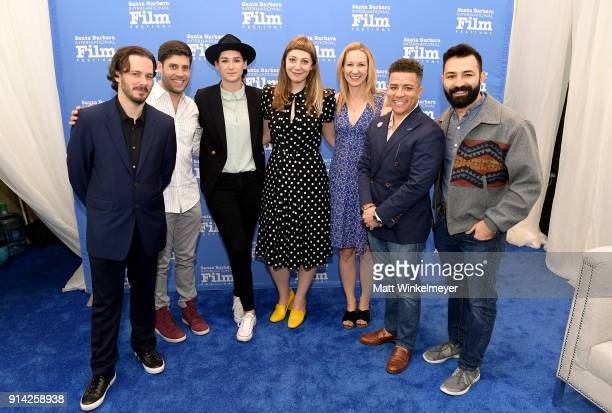 Writerss Edgar Wright Michael H Weber Liz Hannah Emily V Gordon Vanessa Taylor Virgil Williams and Adrian Molina at The Writers Panel during The 33rd...