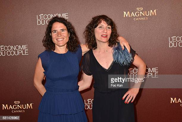 Writers/screenwriters Mazarine Pingeot and Fanny Burdino attend the 'L'Economie du Couple' Party at Plage Magnum 69th Annual Cannes Film Festival on...