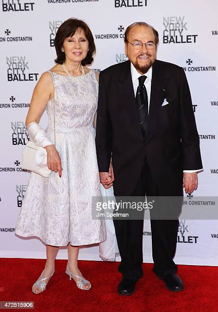 Writer/tv personality James Lipton and wife Kedakai Turner attend the New York City Ballet 2015 spring gala at David H Koch Theater Lincoln Center on...