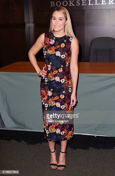Writer/TV personality Lauren Conrad attends a signing for her book 'Celebrate' at Barnes Noble at The Grove on April 3 2016 in Los Angeles California