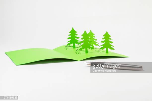 writing a homemade  pop-up christmas tree card - catherine macbride 個照片及圖片檔