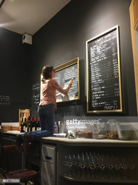 writing a wine menu board