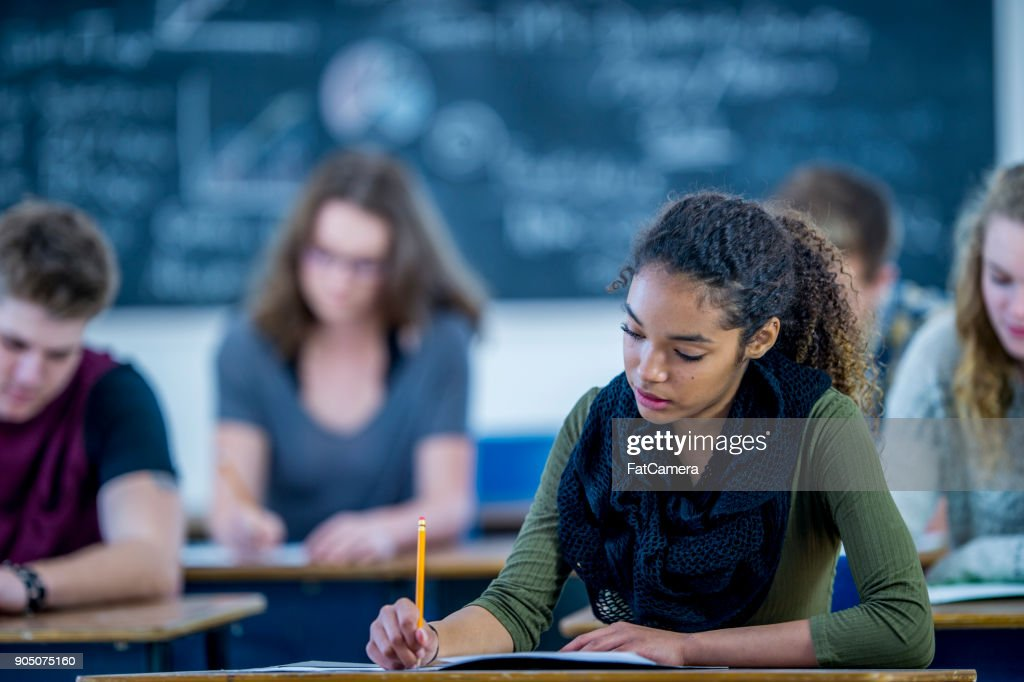 Writing An Exam : Stock Photo