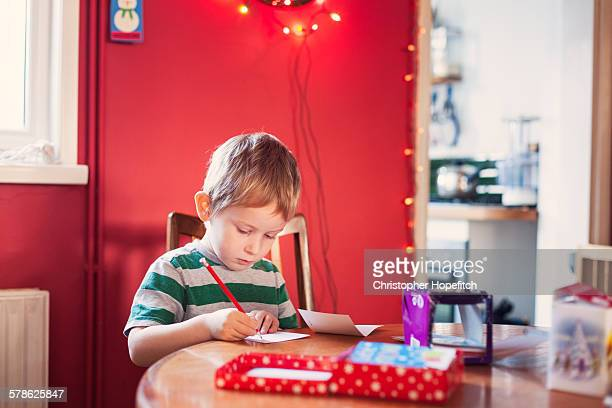 Writing Christmas cards