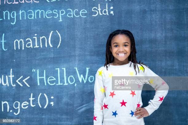 黒板のコードの記述 - チョーク画 ストックフォトと画像