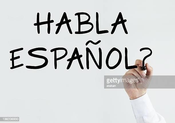 "Writing ""Habla Espanol?"""
