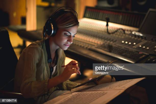 writing her next song - sound recording equipment stock pictures, royalty-free photos & images