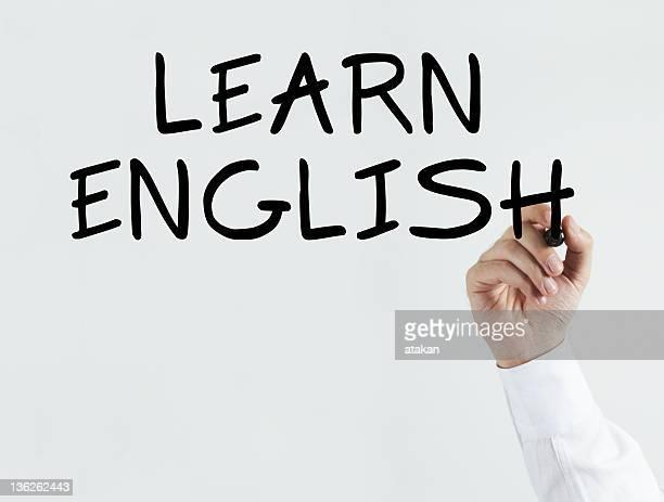 Writing 'learn english'
