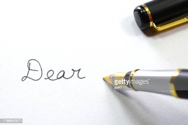 writing letter - love stock pictures, royalty-free photos & images