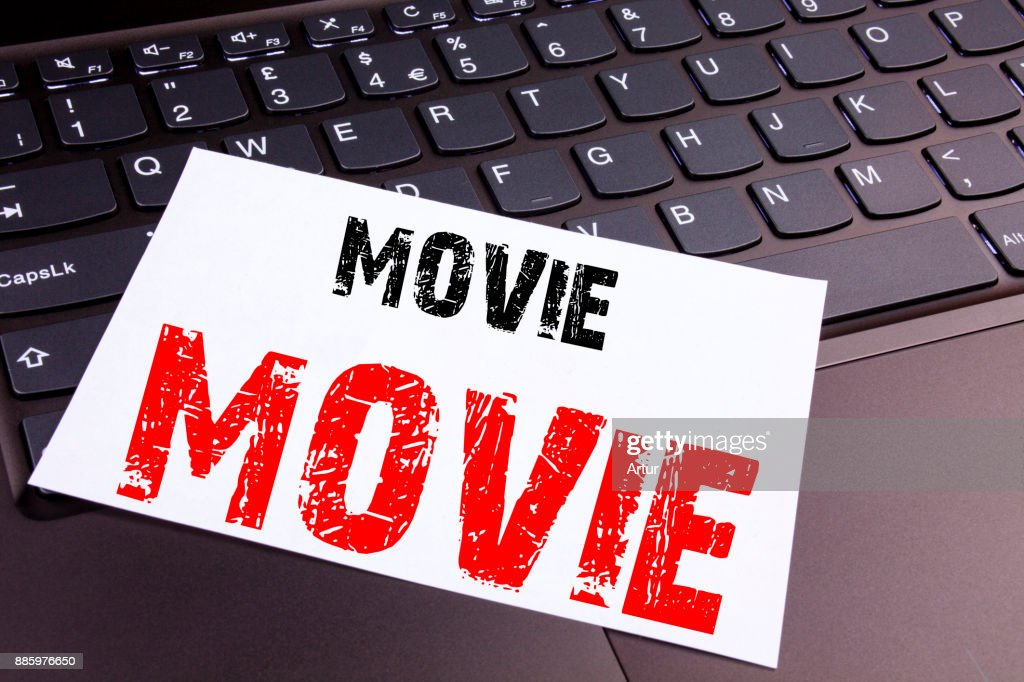 Writing Movie Text Made In The Office Closeup On Laptop Computer Keyboard Business Concept For Entertainment Movie Film Workshop On The Black Background With Copy Space High Res Stock Photo Getty Images