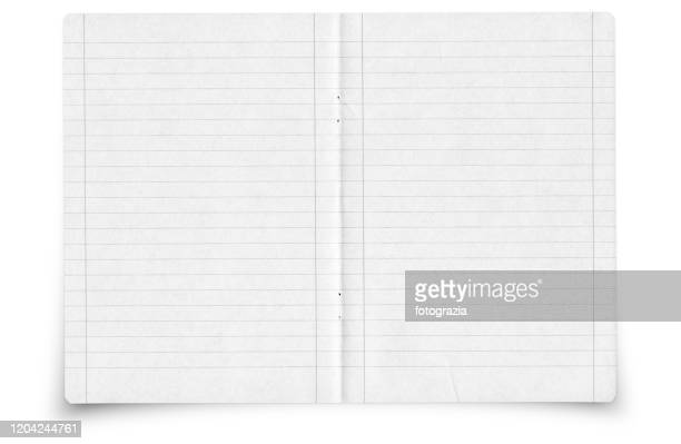 writing notebook lined pages - schulheft stock-fotos und bilder