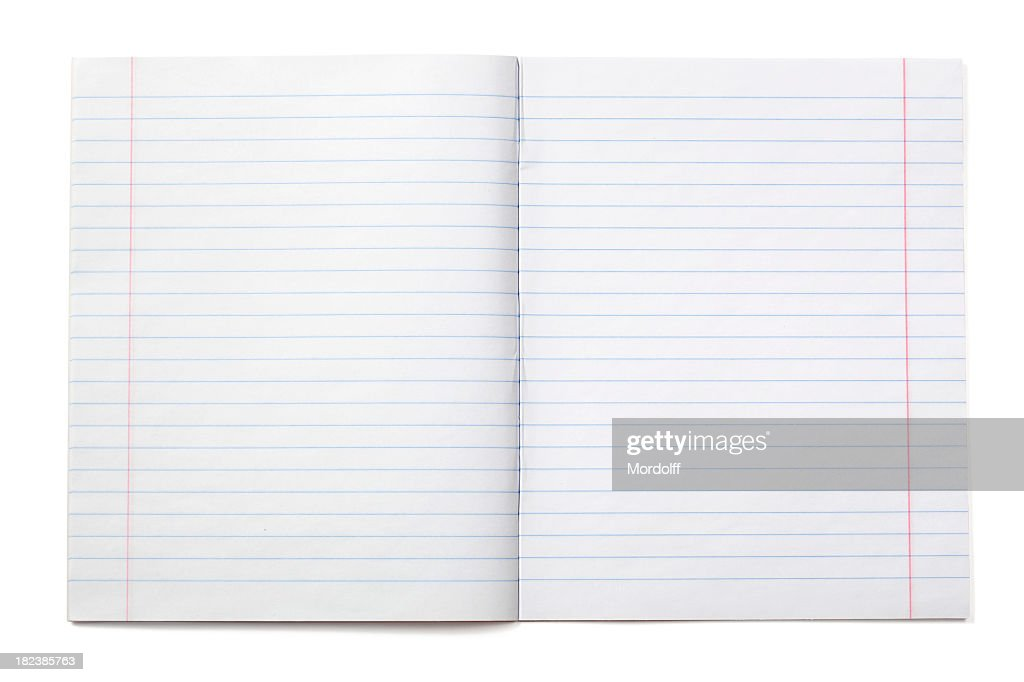 Writing notebook with lined paper (XXXL) : Stock Photo