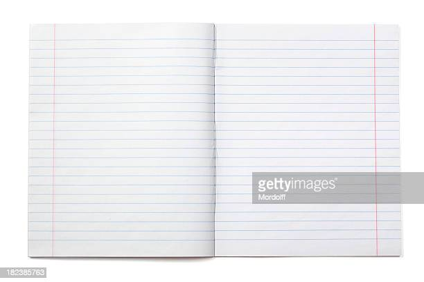 writing notebook with lined paper (xxxl) - category:pages stock pictures, royalty-free photos & images