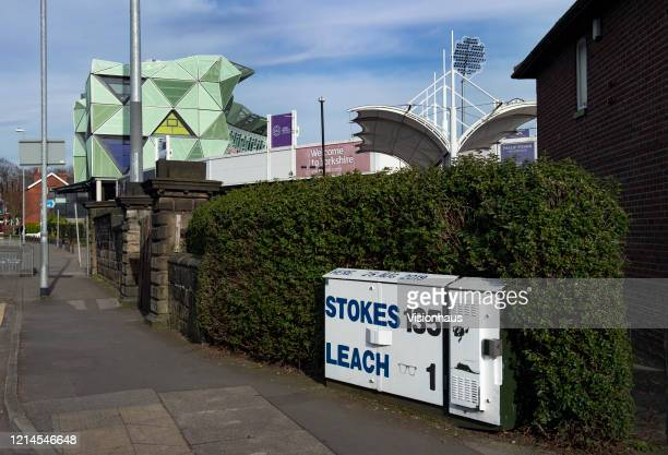 Writing on a BT Telecommunications box remembering the match winning Ashes test innings of Ben Stokes and his partner Jack Leach on 25 August, 2019...