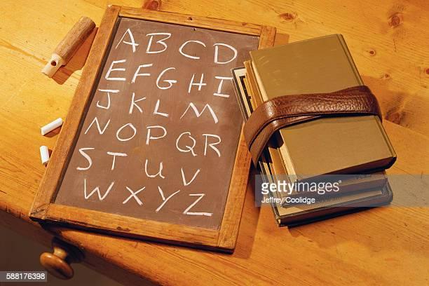 Writing Slate and Textbooks
