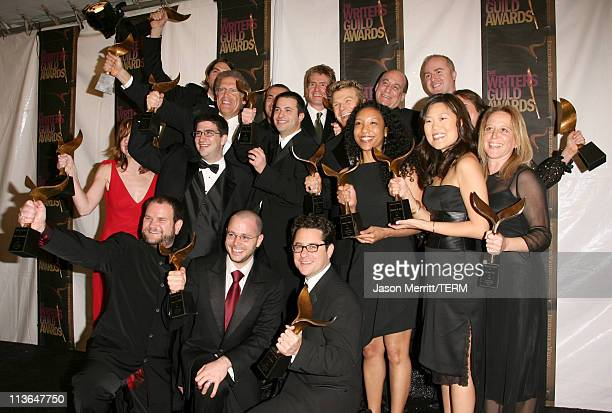 """Writing staff of """"Lost,"""" winners of Outstanding Dramatic Series"""