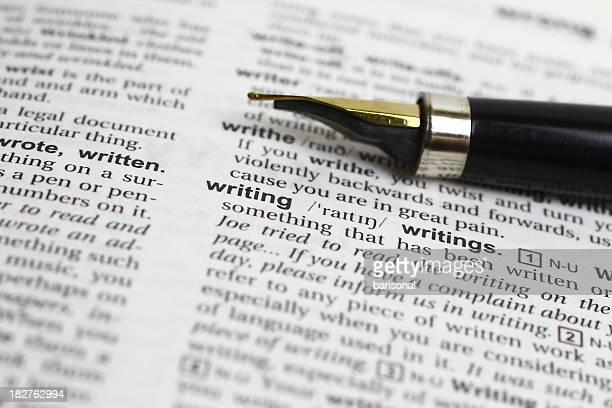Writing word and fountain pen