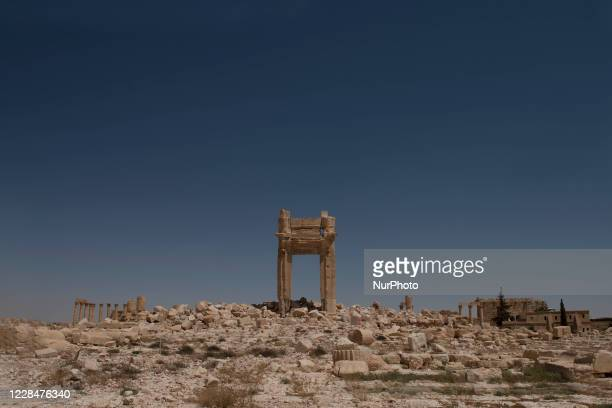 Writings on the wall of the ancient city of Palmyra, they show the armed groups which visited the city and took part in the battles that took place...