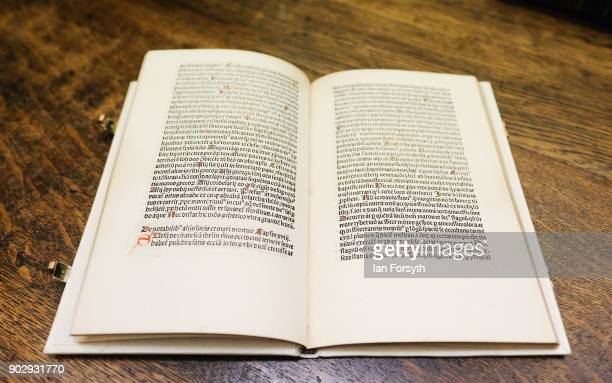 Written in 1483 by John de Mandeville Travels in the Holy Land is the oldest book held at the Leeds Library on January 9 2018 in Leeds England This...
