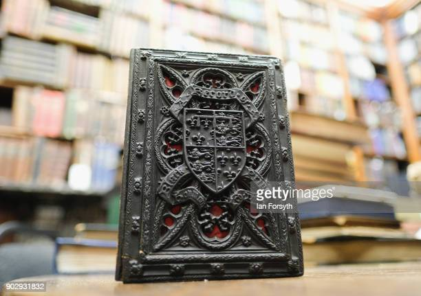 Written in 1887 the ornately covered 'A Record of the Black Prince' is held at the Leeds Library on January 9 2018 in Leeds England This year sees...