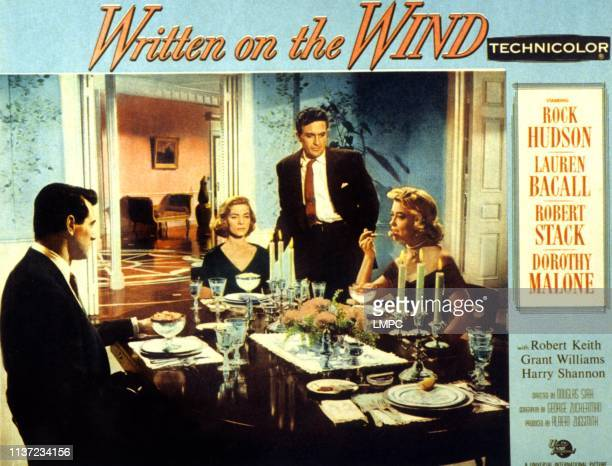 Written On The Wind lobbycard Rock Hudson Lauren Bacall Rober t Stack Dorothy Malone 1956