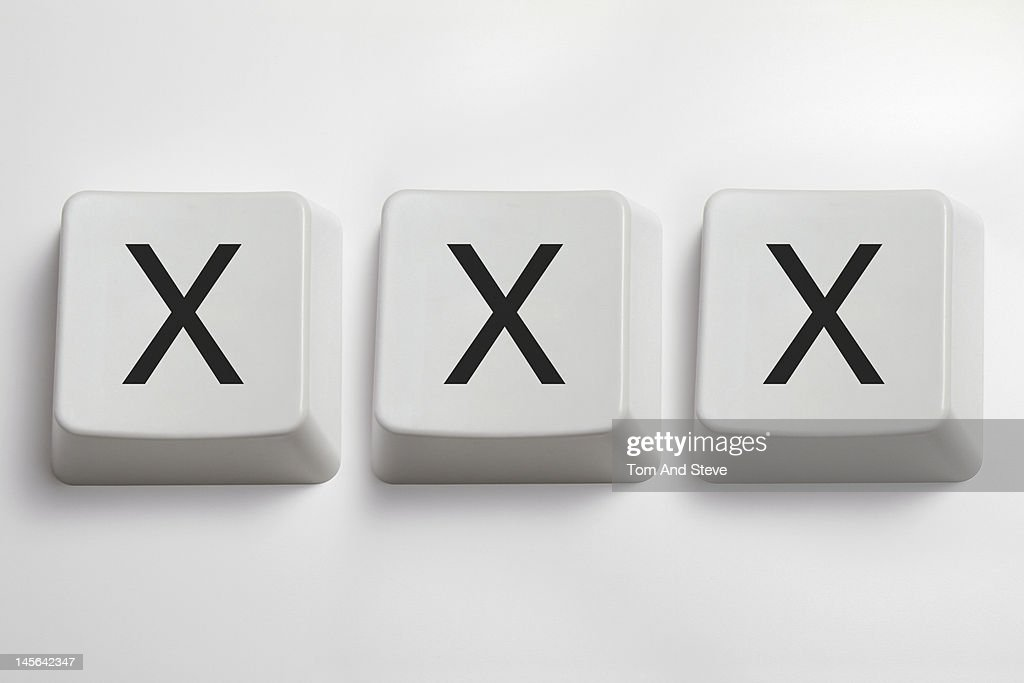 'XXX' written with computer key letters : Stock Photo