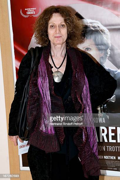 Writter and Lionel Jospin sister Noelle Chatelet attends 'Hannah Arendt' Paris movie Premiere held at Majestic Passy on April 23 2013 in Paris France