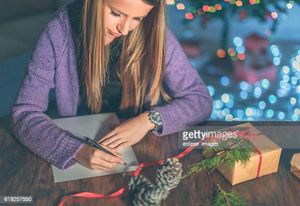 Writting wishes for Christmas