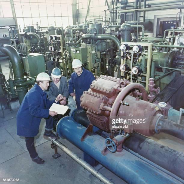 Wärmepumpe im VEB Chemische Werke Buna in Schkopau Bezirk Halle DDR Aufnahme 1980