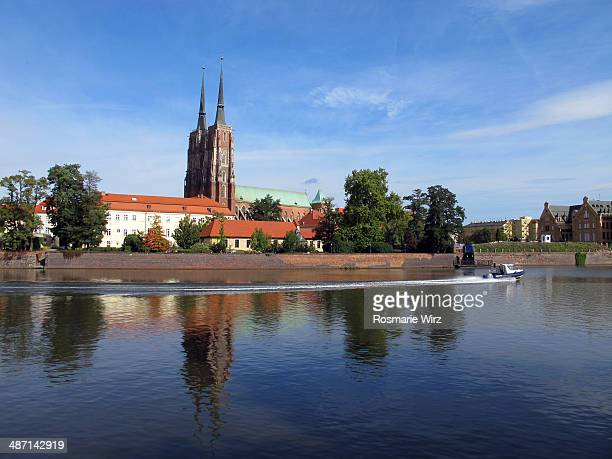 Wroclaw Cathedral and Oder River