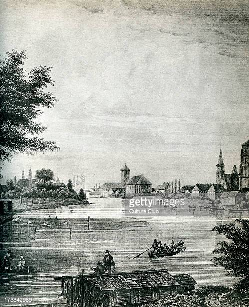 Wroclaw Poland 19th century City on the River Oder Known as Breslau in German