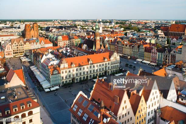 wroclaw poland city views - town hall stock pictures, royalty-free photos & images