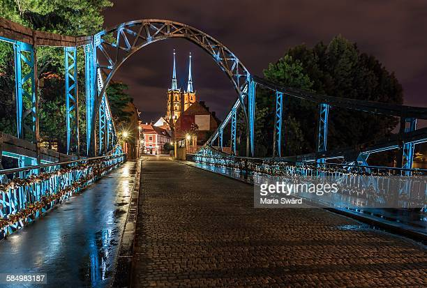 Wroclaw - Romantic Bridge and Wroclaw Cathedral